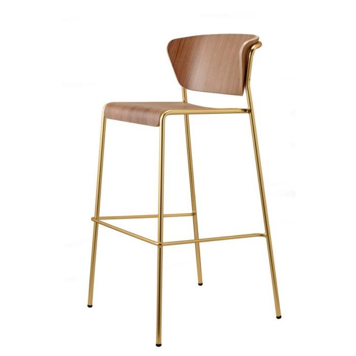 lisa wood bar stool