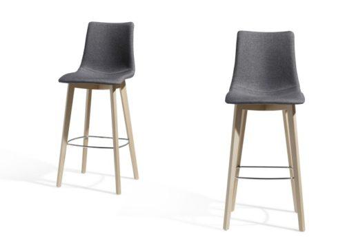 zebra natural pop bar stool