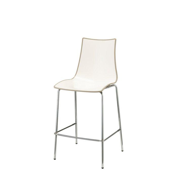 zebra bicolore bar stool