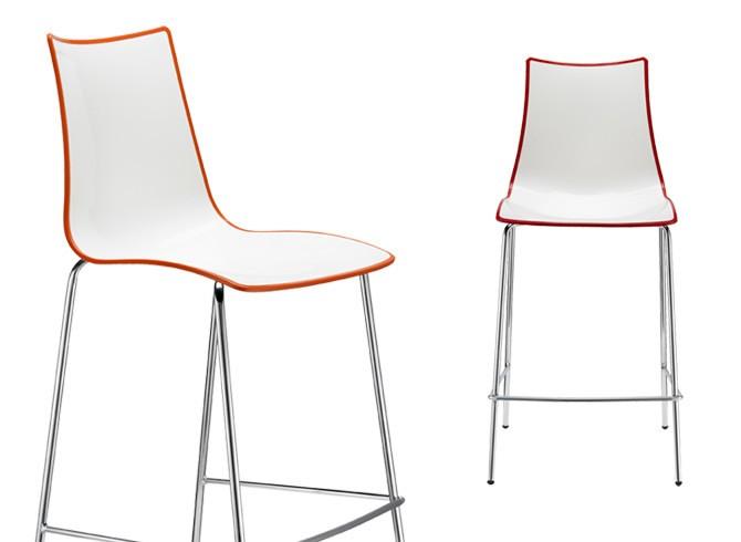 Zebra Bicolour Bar Stool h 65cm Italian bar stools contract furniture ireland