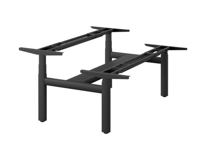 leap sit stand bench desk frame only