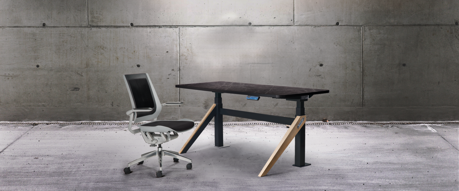 kin by koplus. sit stand office desk